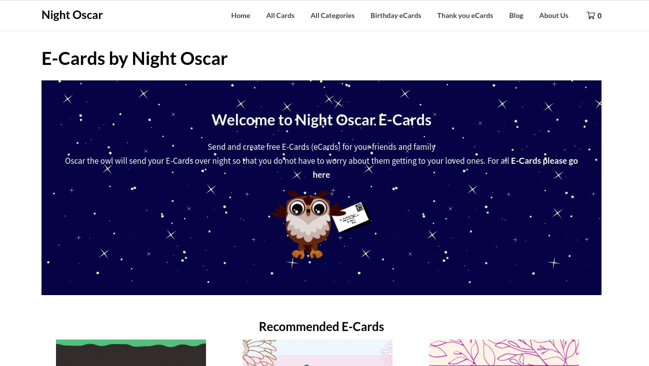 Night Oscar – Greetings, Birthdays and Wishes eCards